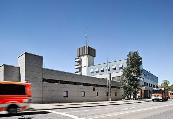 eap Architekten und Stadtplaner, Energetische Fassadensanierung der Berufsfeuerwehr, Ingolstadt, Strassenansicht