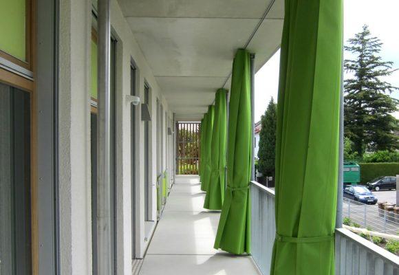 Kinderkrippe Gleissnerstrasse, München, Balkon