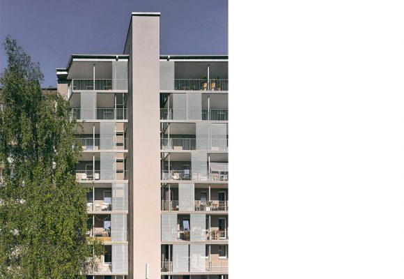 eap Architekten und Stadtplaner, Energetische Sanierung und Balkonerweiterung am Habsburger Platz, München