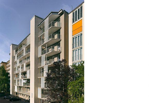 eap Architekten und Stadtplaner, Energetische Sanierung und Balkonerweiterung am Habsburger Platz, München, Balkon