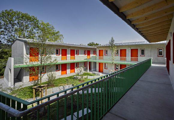eap Architekten und Stadtplaner, Wohnungen für obdachlose Menschen, Landsberg Lech, Innenhof