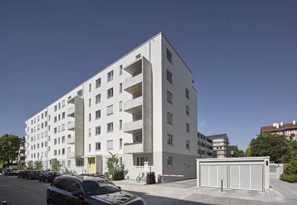 eap Architekten und Stadtplaner, Innerstädtisches Wohnen, Agricolastraße, München, Strassenansicht