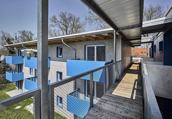 eap Architekten und Stadtplaner, Einfachstwohnen, Erding, Balkon, Zugang
