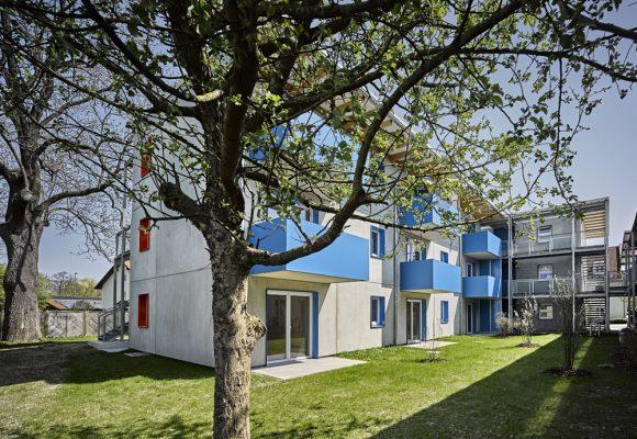 eap Architekten und Stadtplaner, Einfachstwohnen, Erding, Garten, Balkon