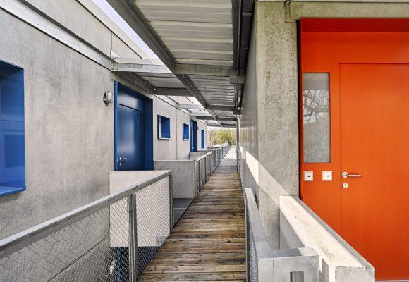 eap Architekten und Stadtplaner, Einfachstwohnen, Erding, Eingangstüre