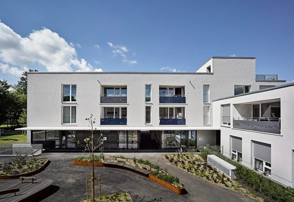 eap Architekten und Stadtplaner, Inklusive Wohnformen, Modellvorhaben, Fassade Innenhof