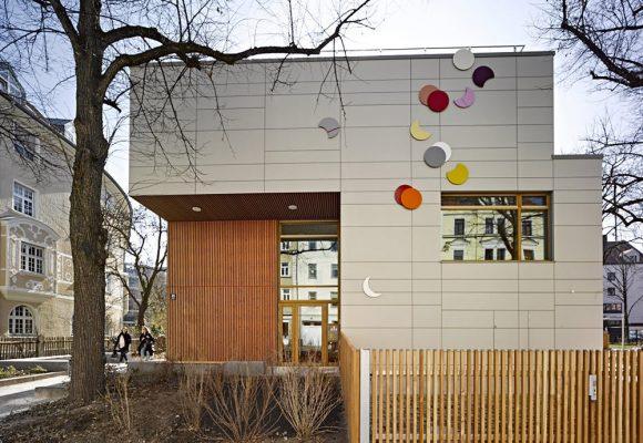 eap Architekten und Stadtplaner, Kinderkrippe Kazmairstrasse, München, Fassade