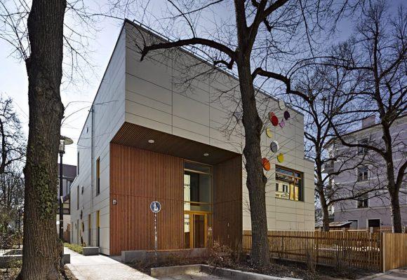 eap Architekten und Stadtplaner, Kinderkrippe Kazmairstrasse, München, Eingang