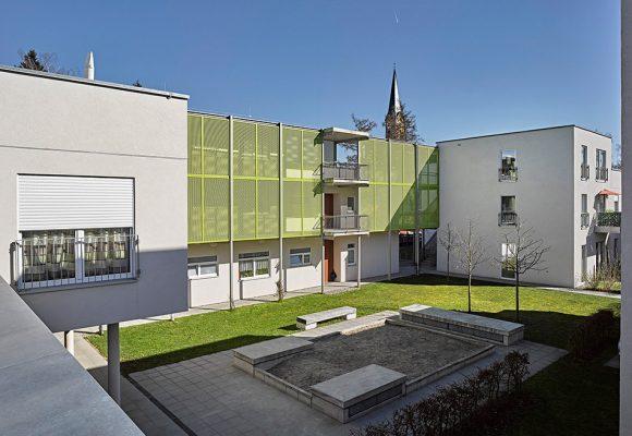 eap Architekten und Stadtplaner, Mehrgenerationenwohnen, Königsbrunn, Innenhof