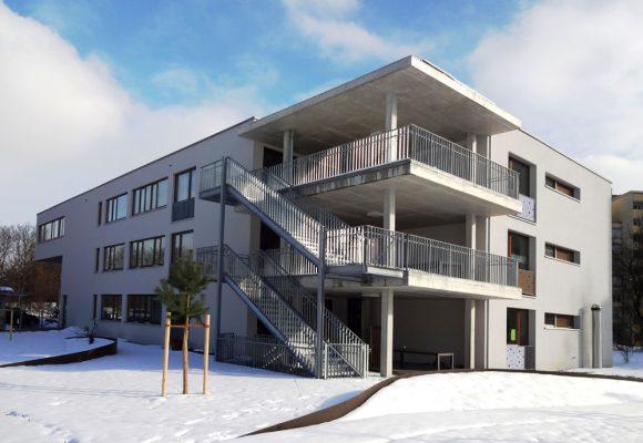 Wohn- und Pflegeheim, Ingolstadt, Treppenhaus aussen