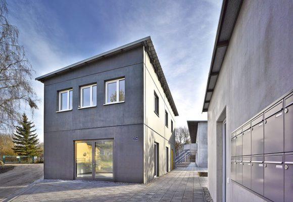 eap Architekten und Stadtplaner, Wohnen für obdachlose Menschen, Ingolstadt, Eingang West