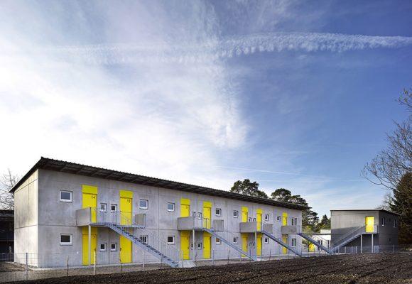 eap Architekten und Stadtplaner, Wohnen für obdachlose Menschen, Ingolstadt, Fassade
